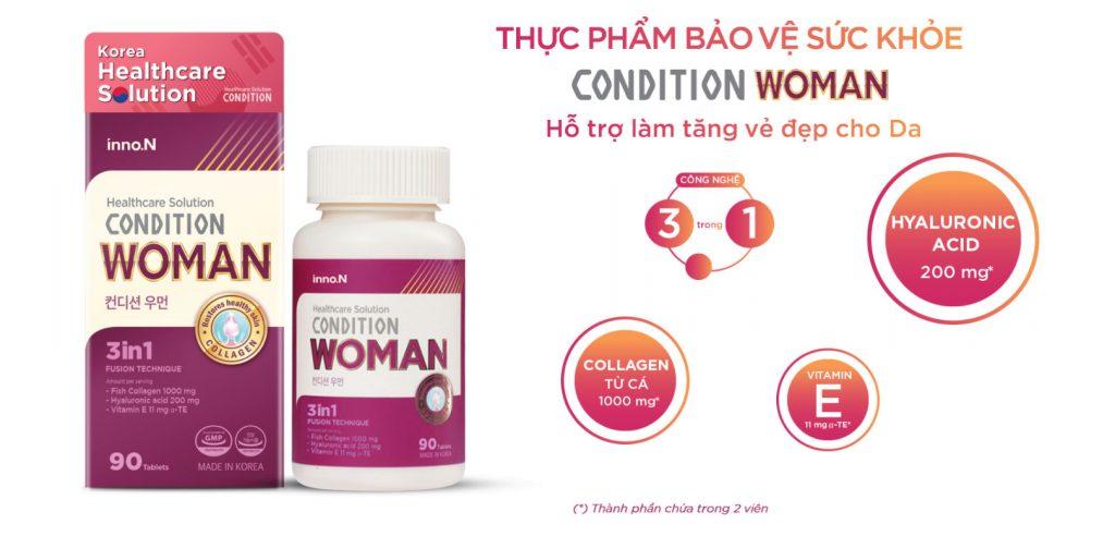 Sản phẩm chăm sóc da Collagen Condition Woman