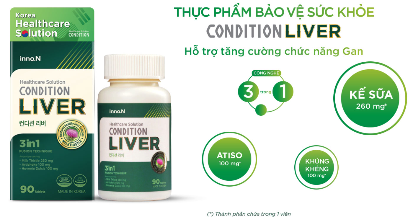 Thực phẩm chức năng cho gan Condition Liver