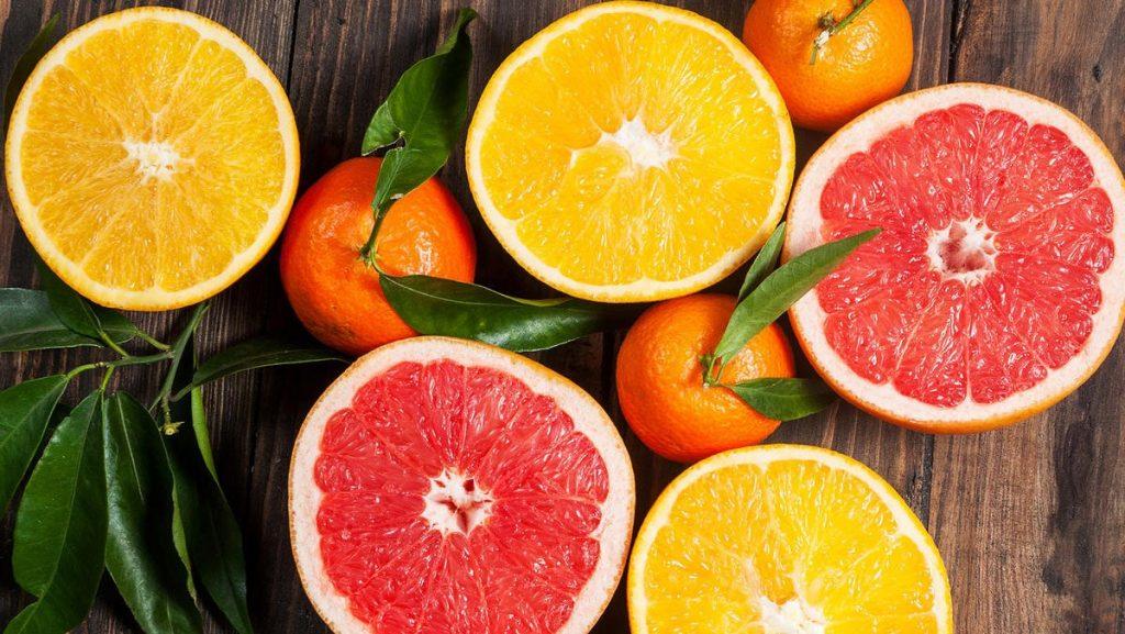 Trái cây họ cam, chanh bổ sung collagen